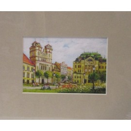 Reprodukcia na plátne- Košice - Vladimír Semančík