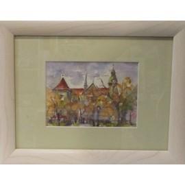 Ručne maľovaný obraz - Košice ,Miklušova väznica