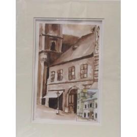 Obraz - Akvarel - Levočský Dóm - Ivónia Neveziová