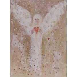 Obraz - Zamilovaní anjeli - abstrakcia