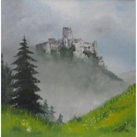 Obraz - Olejomaľba - Spišský hrad - PhDr. Katarína Semanová