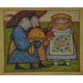 Obraz - Olejomaľba - Legendy Perzie II. - akad. mal. Timour Karimov