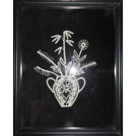 Obraz - Paličkovaná čipka - Kvety v džbáne 2 - Michaela Pernecká