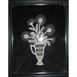 Obraz - Paličkovaná čipka - Kvety v džbáne 3 - Michaela Pernecká