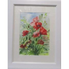 Obraz - Akvarel - Letná lúka II - Mária Lenárdová