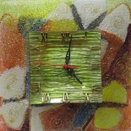 Maľba na sklo - Hodiny- Alexander Orlík