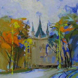 Obraz - Olej na plátne - Jakabov palac - V. Cozmolici