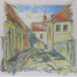 Obraz - Akryl - Mäsiarska ulica - Marta Augustínska