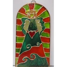 Maľba na sklo - Anjel zo srdcom- Mgr. Ľudmila Bujdošová