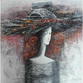 Obraz - Akryl - Dáma v klobúku - Baňas Matúš