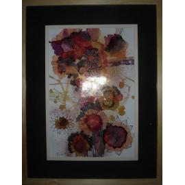 Obraz - Kompozícia s červenými kvetmi - Štecová M.