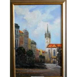 Obraz - Olejomaľba - Prešov Kostol sv. Mikuláša - Vladimír Semančík