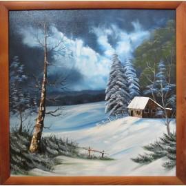 Obraz-Olejomaľba-Zima 9 - Lupčo Ján