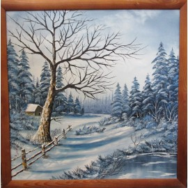 Obraz-Olejomaľba-Zima 10 - Lupčo Ján