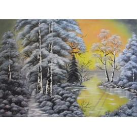 Obraz-Olejomaľba-Zima 8 - Lupčo Ján