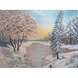 Obraz-Olejomaľba-Zima 9- Lupčo Ján