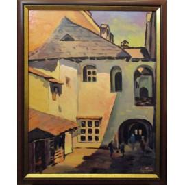 Obraz - Olejomaľba na plátne - Košický dvor - Akad. mal. Varuzhan Aghamyan