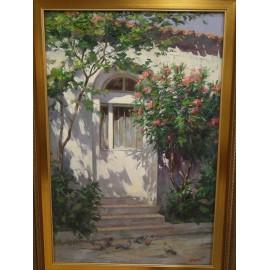 Obraz - Olejomaľba - Kvetinový vchod - akad. mal. Timour Karimov