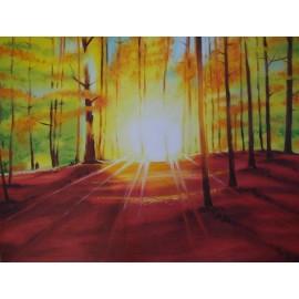 Obraz - Olej na plátne - Slnko v lese - Adam Miroslav