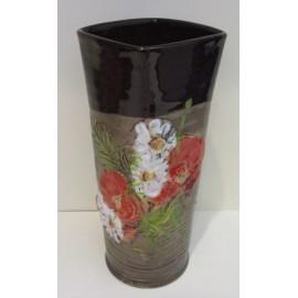 Keramika- Váza s motívom makov - Ján Mokriš
