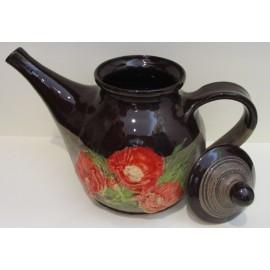 Keramika-Čajník s motívom makov - Ján Mokriš