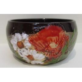 Keramika - Miska s motívom makov - Ján Mokriš