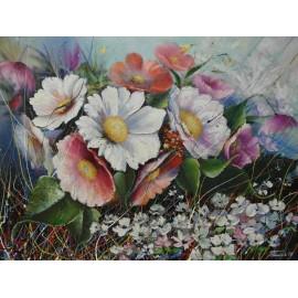 Obraz - Olejomaľba - Kvety 2 - Peter Treciak