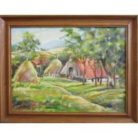 Ručne maľovaný obraz - Seno II