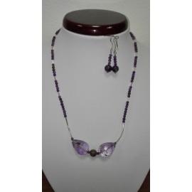 Ametyst+Ag925 - náhrdelník,náušnice