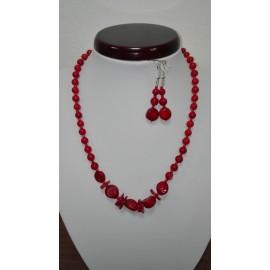 Koral - náhrdelník,náušnice