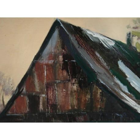 Obraz - Zátišie so starým domom