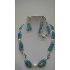 Apatit paraiba-perla-náhrdelník-náramok-náušnice
