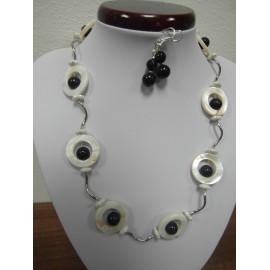 Perleť - pieskový avanturín - náhrdelník,náušnice