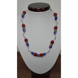 Hubový koral - perla- náhrdelník