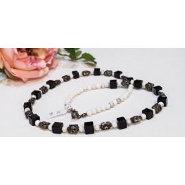 Onyx - magnezit - náhrdelník