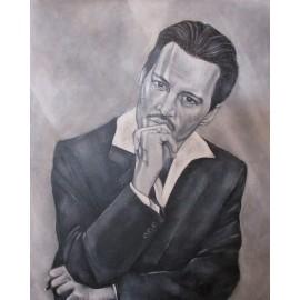 Obraz - Akryl- Johnny Depp - Florková Katarína