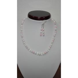 Perleť- swarovského krištáľ - náhrdelník,náušnice