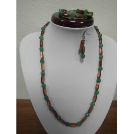 Perleť - jadeit - náhrdelník,náramok,náušnice