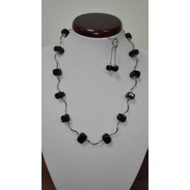 Ónyx - náhrdelník, náušnice