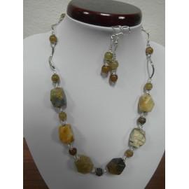 Krištáľ-náhrdelník a náušnice