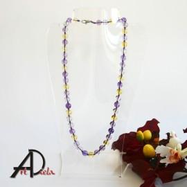 Ametyst-citrín-náhrdelník