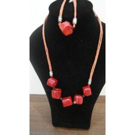 Korál - náhrdelník-náramok