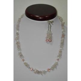 Ruženin - náhrdelník,náušnice
