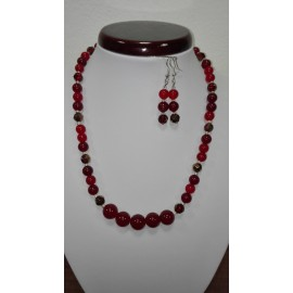 Jadeit - náhrdelník,náušnice