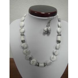 Korál-biely-Ag925 - náhrdelnií, náušnice