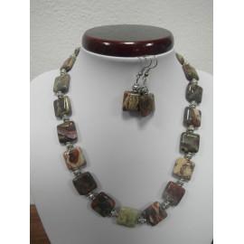 Ryolit - náhrdelník,náušnice