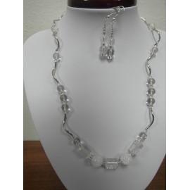 Krištáľ - náhrdelník,náušnice