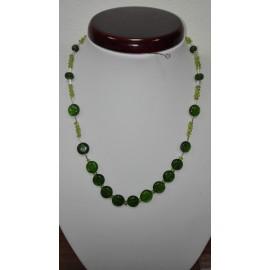 Olivín-smaragd+Ag925 - náhrdelník