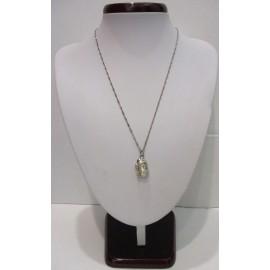 Náhrdelník, perleť Biwa a striebro Ag 925.