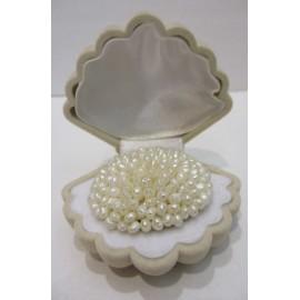 Brošňa,riečne perly biele